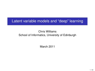 "Latent variable models and ""deep"" learning"