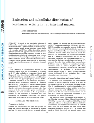 Estimation and subcellular distribution of