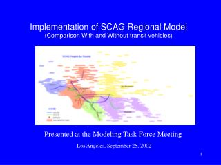 Execution of SCAG Local Model (Examination With and Without travel vehicles)