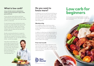 Low carb for beginners