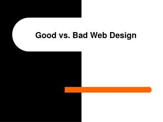 Great versus Terrible Web Plan