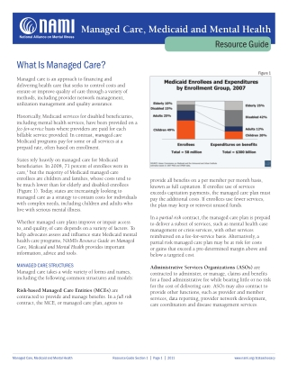 Managed Care, Medicaid and Mental Health