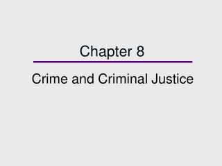 Wrongdoing and Criminal Justice