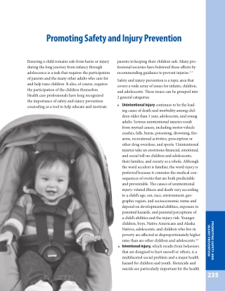 Promoting Safety and Injury Prevention