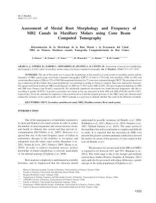 Assessment of Mesial Root Morphology and Frequency of MB2 Canals in Maxillary Molars using Cone Beam Computed Tomography