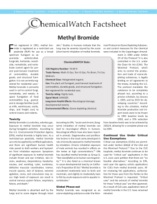 C hemicalWatch Factsheet