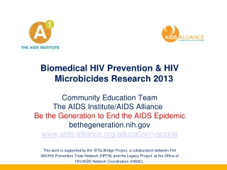 Microbicides Research 2013