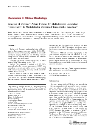 Computers in Clinical Cardiology Computers in Clinical Cardiology