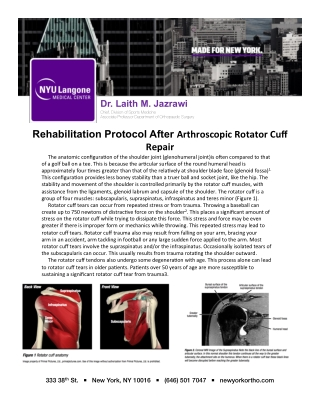Rehabilitation Protocol After