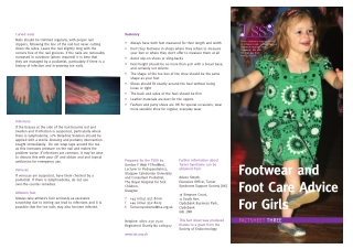 Footwear and Foot Care Advice For Girls
