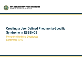 Creating a User Defined Pneumonia-Specific