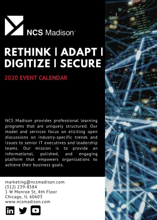 RETHINK | ADAPT | DIGITIZE | SECURE