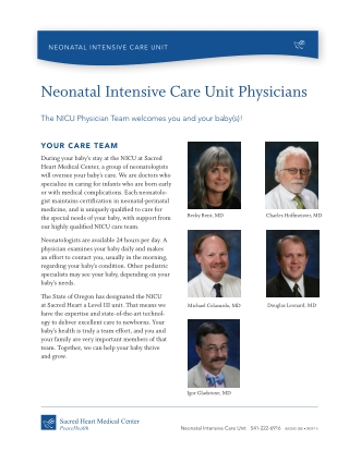 Neonatal Intensive Care Unit Physicians
