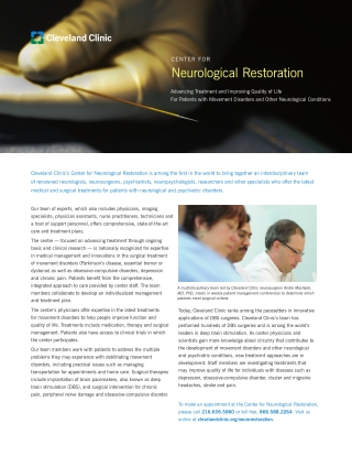 Neurological Restoration