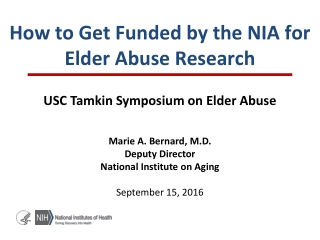 Elder Abuse Research
