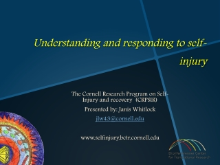 Understanding and responding to self- injury