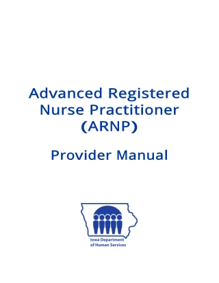 Advanced Registered Nurse Practitioner ( ARNP)