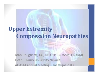 Upper	   Extremity	   	    Compression	   Neuropathies