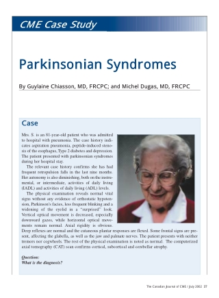 Parkinsonian Syndromes
