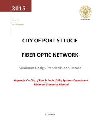 CITY OF PORT ST LUCIE FIBER OPTIC NETWORK