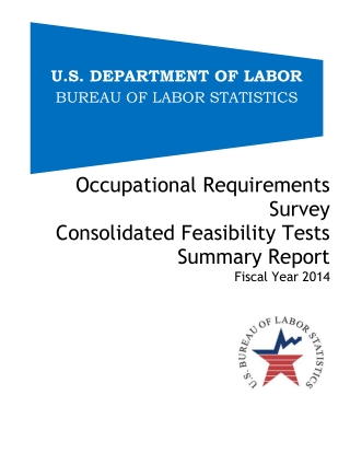 Occupational Requirements Survey Consolidated Feasibility Tests Summary Report