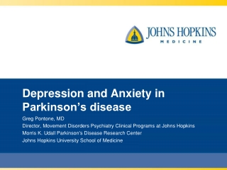 Depression and Anxiety in