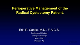 Perioperative Management of the Radical Cystectomy Patient.