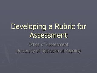 Adding to a Rubric for Assessment
