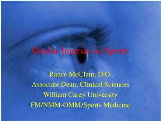 Ocular Injuries in Sports