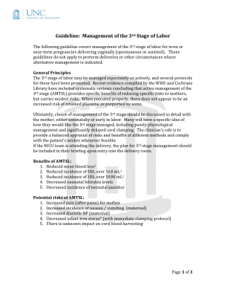 Guideline: Management of the 3