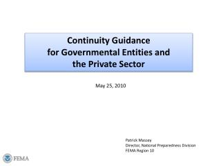 Congruity Guidance for Governmental Entities and the Private Sector