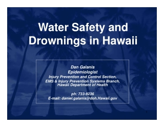 Water Safety and Drownings in Hawaii