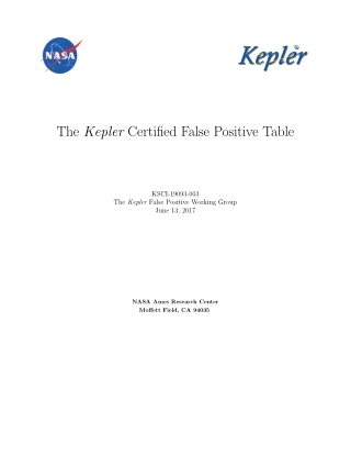 The Kepler Certified False Positive Table