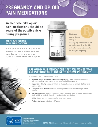 PREGNANCY AND OPIOID PAIN MEDICATIONS
