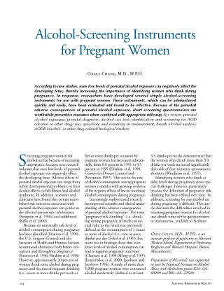 Alcohol-Screening Instruments for Pregnant Women