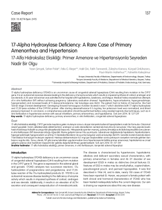 17-Alpha Hydroxylase Deficiency: A Rare Case of Primary Amenorrhea and Hypertension