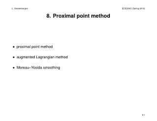 8. Proximal point method