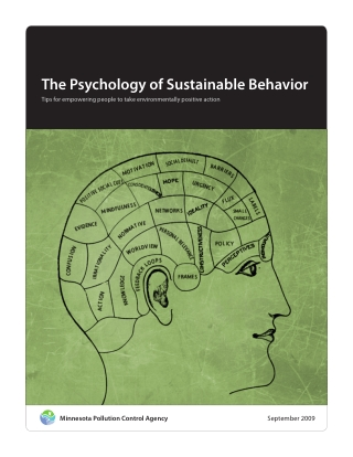 The Psychology of Sustainable Behavior