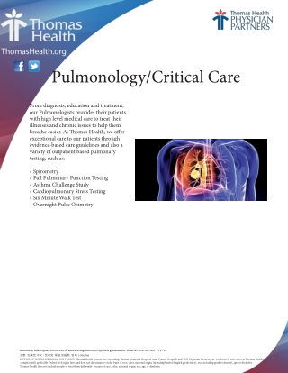 Pulmonology/Critical Care