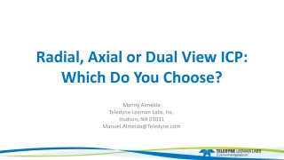 Radial, Axial or Dual View ICP: Which Do You Choose?