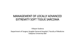 MANAGEMENT OF LOCALLY ADVANCED MANAGEMENT OF LOCALLY ADVANCED