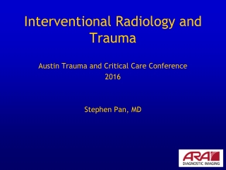 Interventional Radiology and