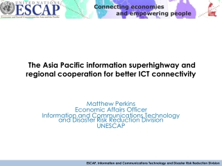 regional cooperation for better ICT connectivity