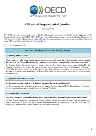 CRS-related Frequently Asked Questions