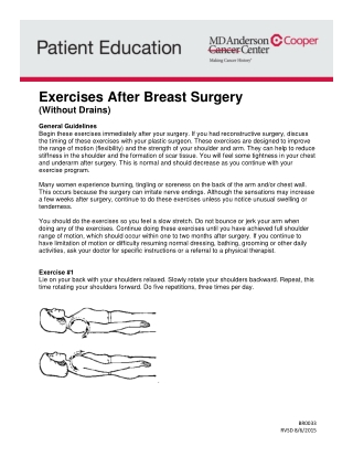 Exercises After Breast Surgery