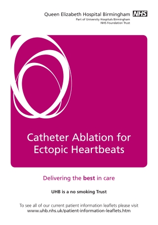 Catheter Ablation for Ectopic Heartbeats