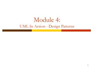 Module 4: UML In real life - Plan Designs