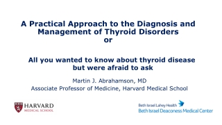 A Practical Approach to the Diagnosis and