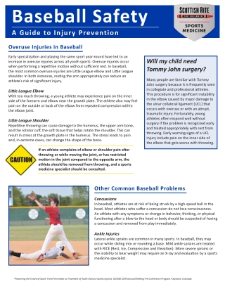 Baseball Safety