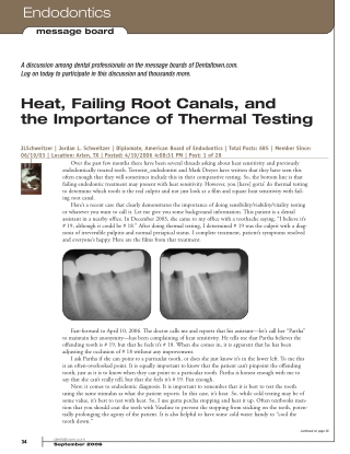 Heat, Failing Root Canals, and the Importance of Thermal Testing